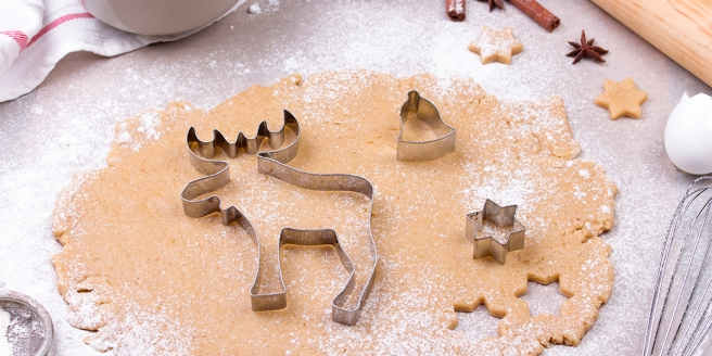 Preparing Christmas Gingerbread Cookies